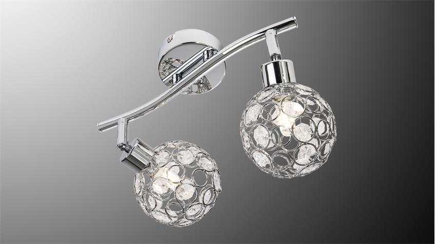 led deckenspot larga chrom metall acryl deko 2 flg mit leuchtmittel. Black Bedroom Furniture Sets. Home Design Ideas