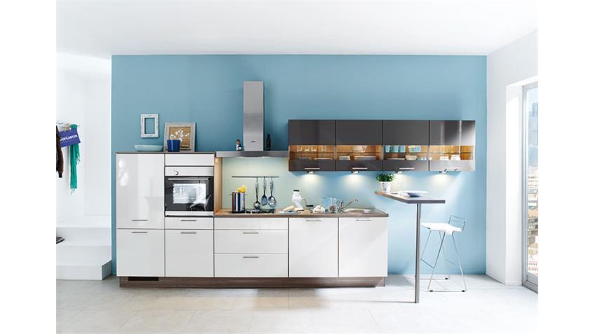 Nobilia Einbauküche, Küchenzeile inkl. Geschirrspüler - 123