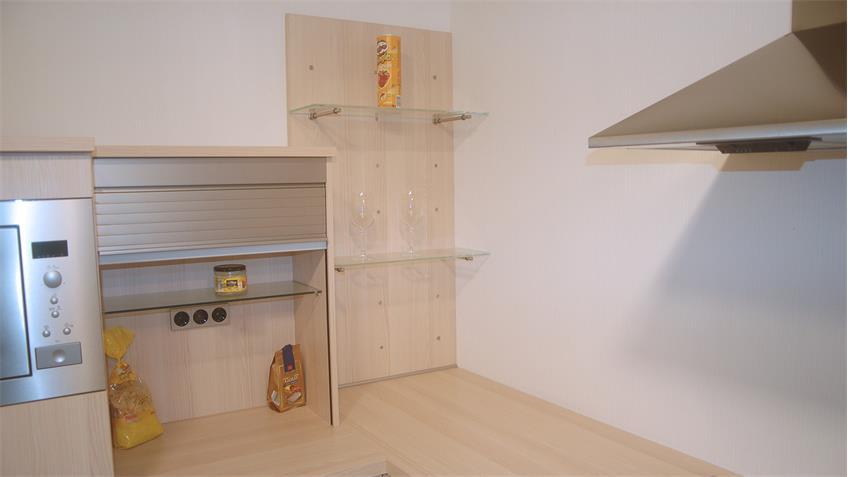 Einbauküche Nobilia Ausstellungsküche Speed in Platinesche E-Geräte