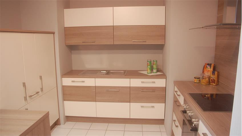 k che nobilia ausstellungsk che splinteiche magnolia matt. Black Bedroom Furniture Sets. Home Design Ideas
