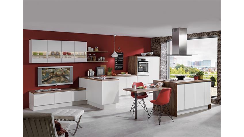 Nobilia Einbauküche Inselküche inkl. E-Geräte - 717