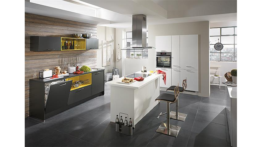 Nobilia Einbauküche Inselküche inkl. E-Geräte - 365