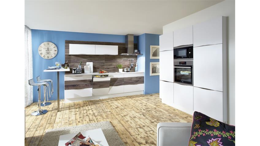 Nobilia Einbauküche Küchenzeile inkl. E-Geräte - 801