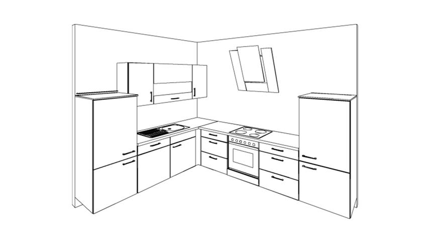 nobilia einbauk che k che l form mit auswahl inkl e ger te 391. Black Bedroom Furniture Sets. Home Design Ideas