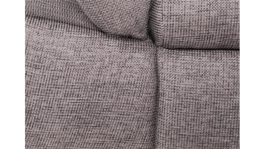 Ecksofa ANNA beige grau Recamiere rechts 286x186 cm