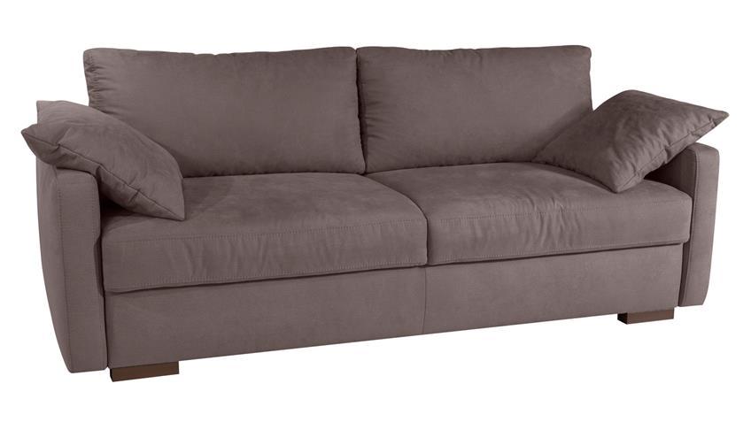 schlafsofa frisco de luxe sofa boxspringsofa in braun grau mit topper. Black Bedroom Furniture Sets. Home Design Ideas