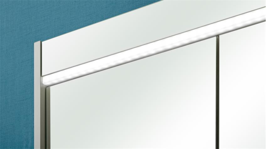Pelipal Badezimmer PIOLO Front in weiß Hochglanz inkl. LED-Beleuchtung