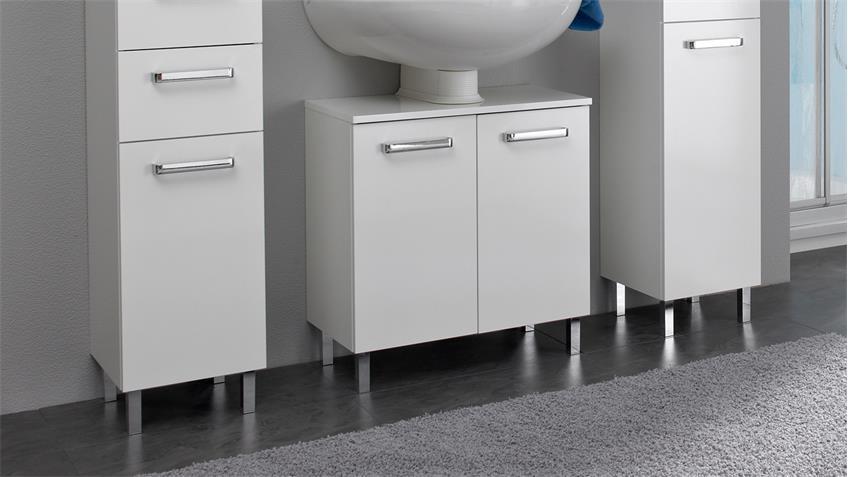 pelipal badezimmer wiesbaden wei glanz inkl led beleuchtung 5 teilig. Black Bedroom Furniture Sets. Home Design Ideas