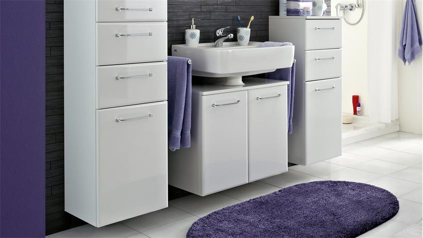 pelipal badezimmer filo in wei hochglanz inkl led und t rd mpfer. Black Bedroom Furniture Sets. Home Design Ideas