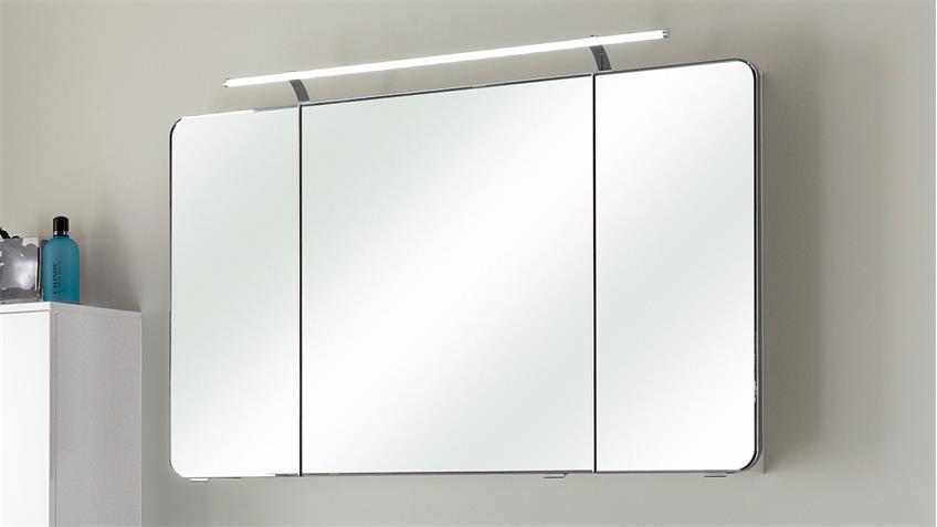 pelipal spiegelschrank fokus wei hochglanz lack inkl led beleuchtung. Black Bedroom Furniture Sets. Home Design Ideas