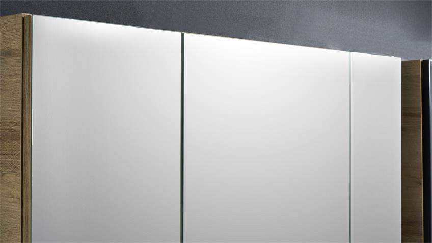 Pelipal Badezimmer BALTO 3-tlg. Eiche Riviera 123 cm
