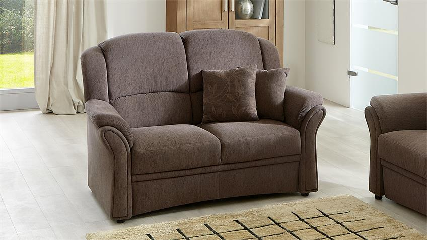 Sofa InFEELING 2 Sitzer Polstermöbel in Nougat braun