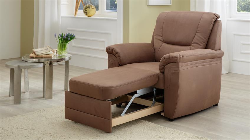 Sessel QUEENLINE Einzelsessel TV-Sessel braun mit Funktion