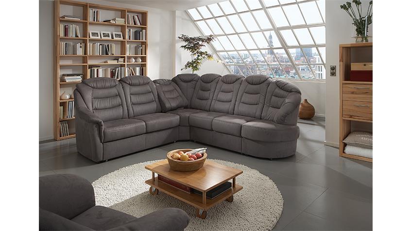 Ecksofa SAIGON Wohnlandschaft Sofa in Mocca Braun