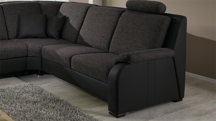 Ecksofa JUIST Wohnlandschaft Sofa in nougat und braun