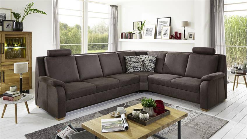 ecksofa juist bezug stoff mocca braun f e natur inkl nosagfederung. Black Bedroom Furniture Sets. Home Design Ideas