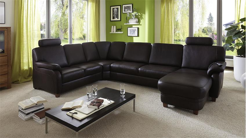 ecksofa toulouse wohnlandschaft sofa echtes leder in braun. Black Bedroom Furniture Sets. Home Design Ideas