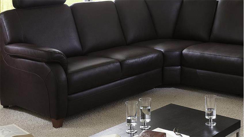 ecksofa toulouse wohnlandschaft sofa echtes leder in braun. Black Bedroom Furniture Sets. Home Design Ideas