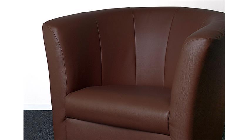 Cocktailsessel PELE Sessel in braun Größe 74x80x46 cm