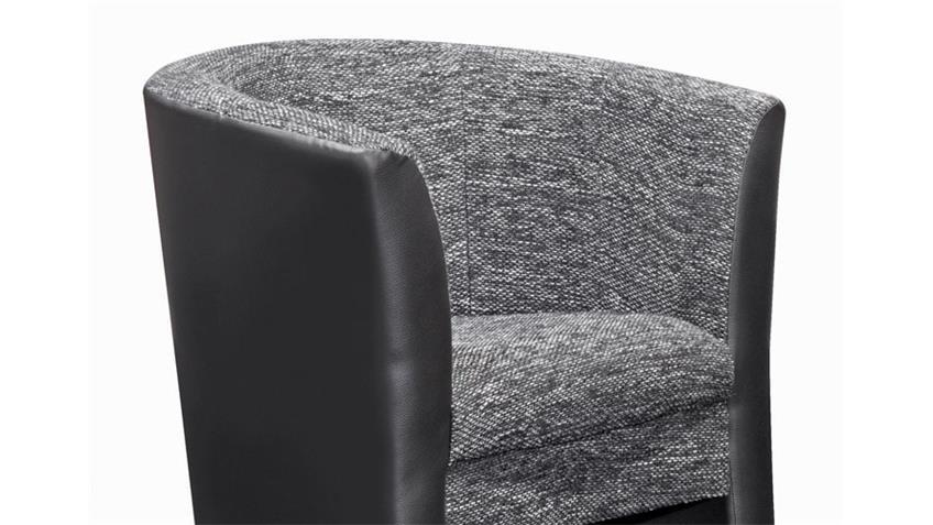 Cocktailsessel PELE Sessel in schwarz und anthrazit