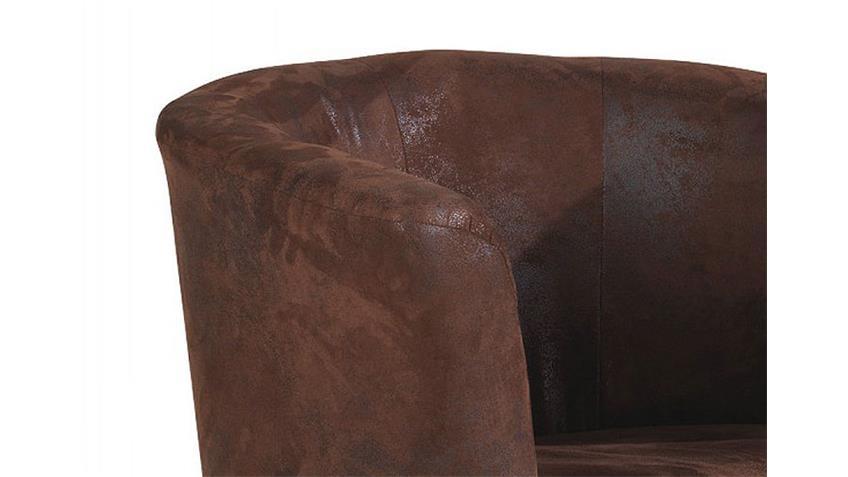 Cocktailsessel PELE Sessel Antik Lederlook komplett bezogen