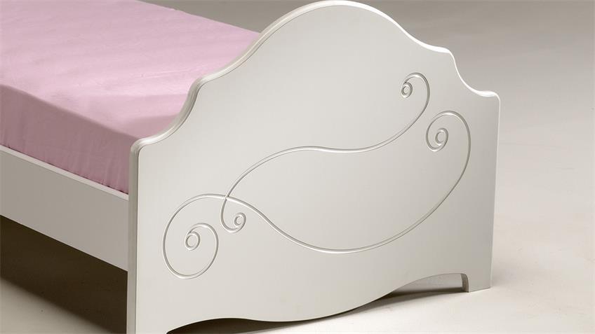 Bett FRESH Kinderbett Kinderzimmerbett in weiß lackiert