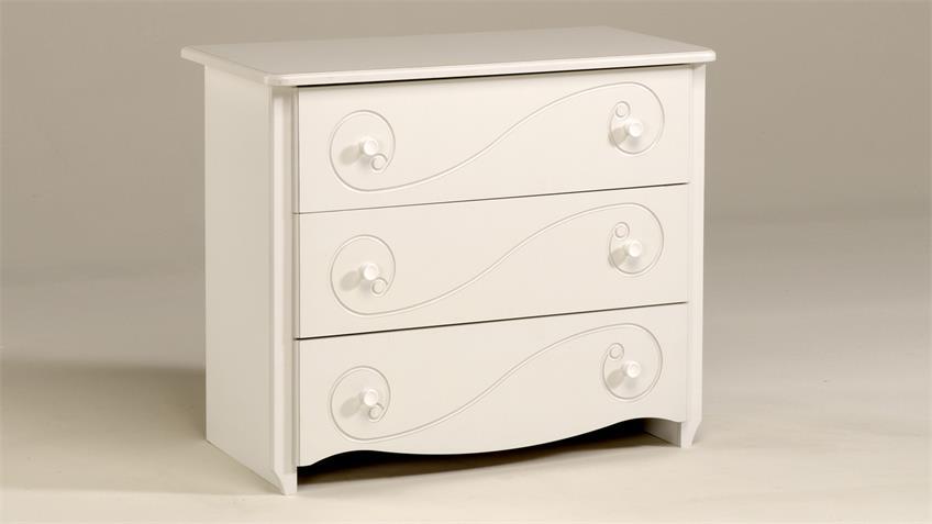 Schubkastenkommode FRESH Sideboard Kommode in weiß lackiert