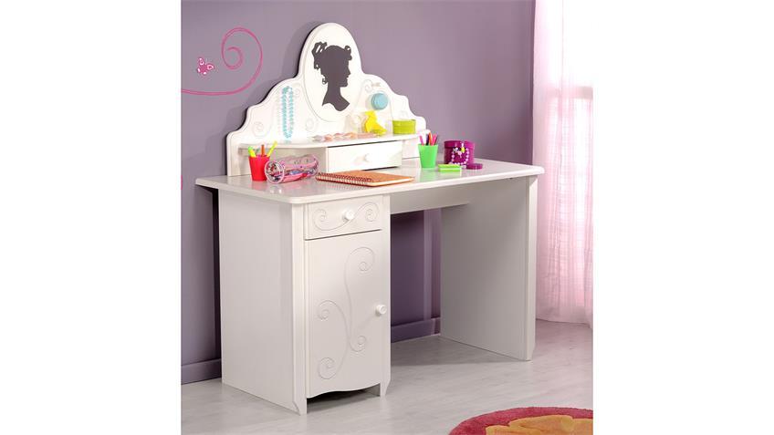 Aufsatz FRESH für Schreibtisch und Kommode in weiß lackiert