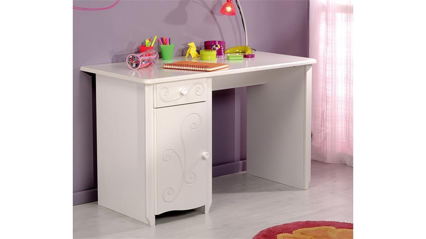 Schreibtisch FRESH Computertisch PC-Tisch in weiß lackiert