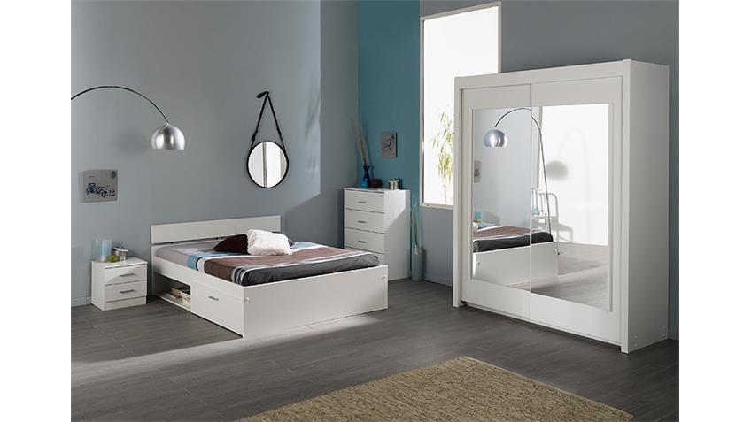 Schlafzimmerset INFINITY 4 teilig Schlafzimmer in weiß