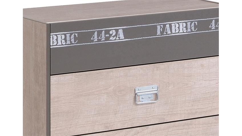 Kommode FABRIC Sideboad Anrichte in Esche und grau Dekor