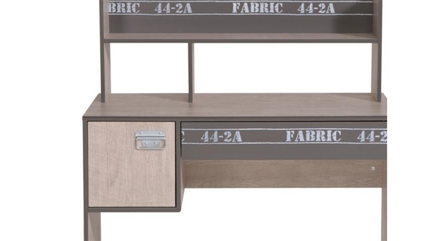 Schreibtisch FABRIC Computertisch PC Tisch Esche und grau