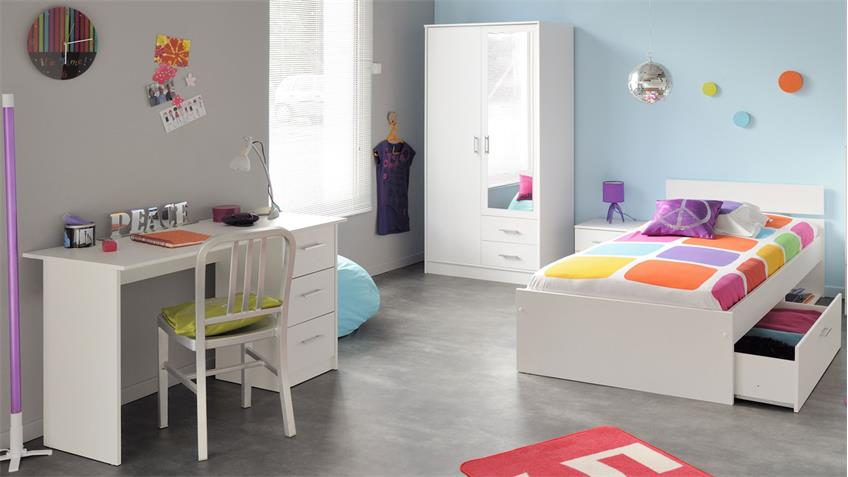 schreibtisch infinity wei kinder und jugendzimmer. Black Bedroom Furniture Sets. Home Design Ideas