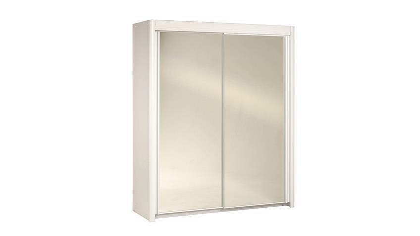 Schwebetürenschrank CARLAS in weiß mit Spiegel 181
