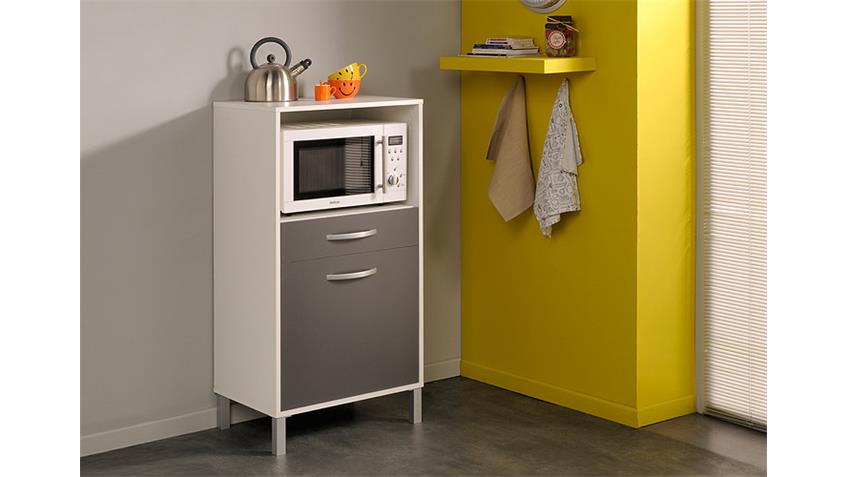 Küchenschrank OPTIBOX in weiß und grau 60 cm