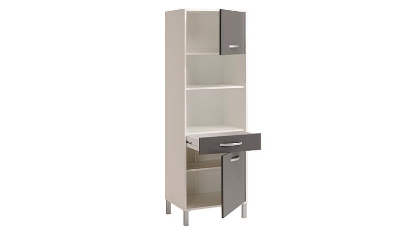 Küchenschrank OPTIBOX Mehrzweckschrank in weiß und grau
