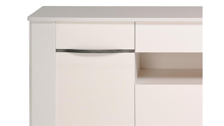 Sideboard CERAM Kommode Anrichte in weiß hochglanz Dekor