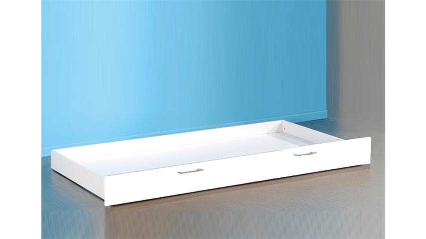 Bettschubkasten BIBOP in weiß Dekor für Etagenbett