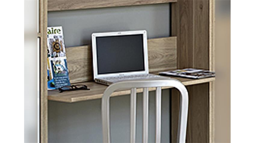 Regal mit Schreibtisch SOPHIA in Eiche Dakota