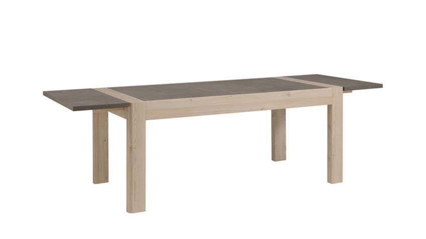 Tischverlängerung 2er Set CHRIS in  Eiche und Steinoptik