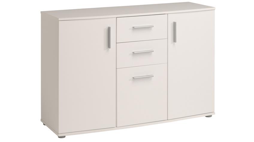 Sideboard SALTO 2 in weiß mit 3 Türen und 2 Schubkästen
