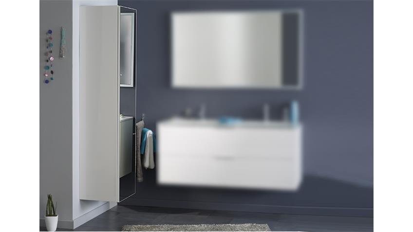 Badezimmerschrank LUXY 6 in weiß mit Spiegelfront