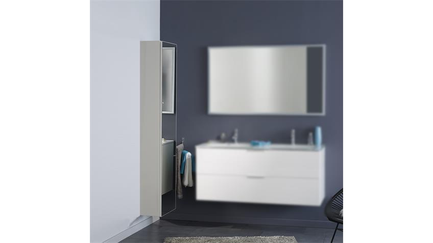 Badezimmerschrank LUXY 8 in weiß mit Spiegelfront