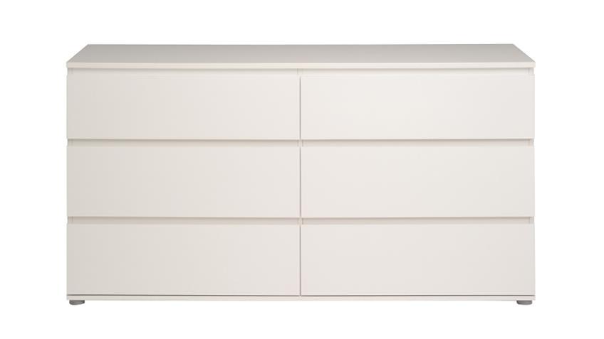 Kommode NEO 6 Sideboard Anrichte in weiß 23 6 Schubkästen