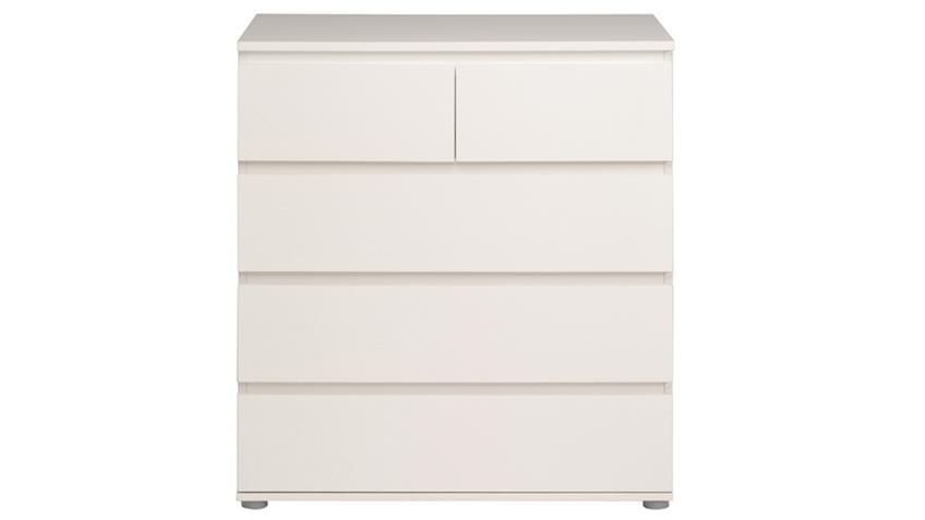 Kommode NEO 5 Sideboard Anrichte in weiß 23 5 Schubkästen