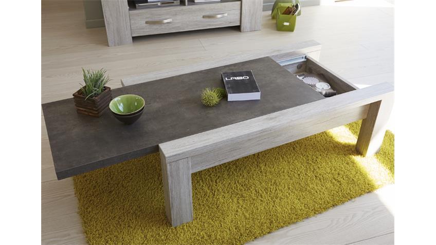 Couchtisch MALONE 43 in Eiche Steinoptik grau Tisch 116 cm