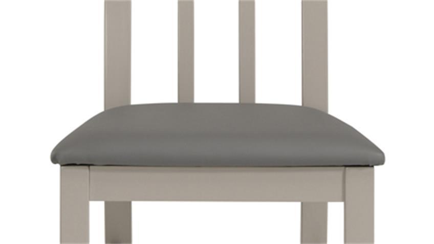 Stuhl 2er Set MALONE 35 in Buche grau gebeizt massiv
