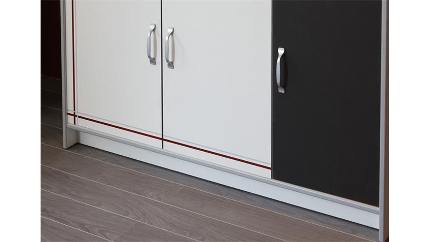 Mehrzweckschrank BISTROT 3 Küchenschrank Sideboard weiß