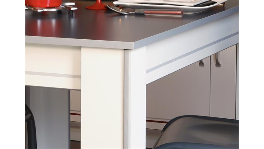 Esstisch BISTROT 5 Küchentisch weiß Platz für 4 Personen
