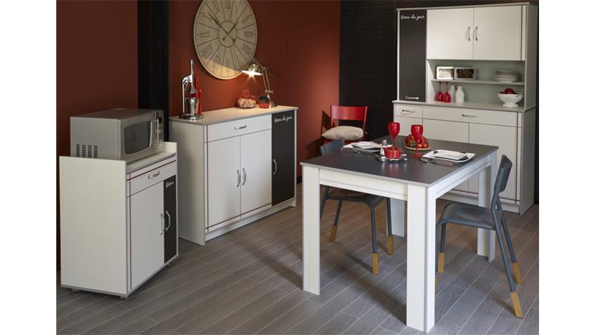 BISTROT 6 Komplettset 4Tlg. Küchenschränke mit Tisch weiß